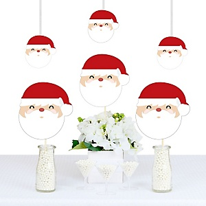 jolly santa claus christmas decorations diy party essentials set of 20 - Santa Claus Christmas Decorations