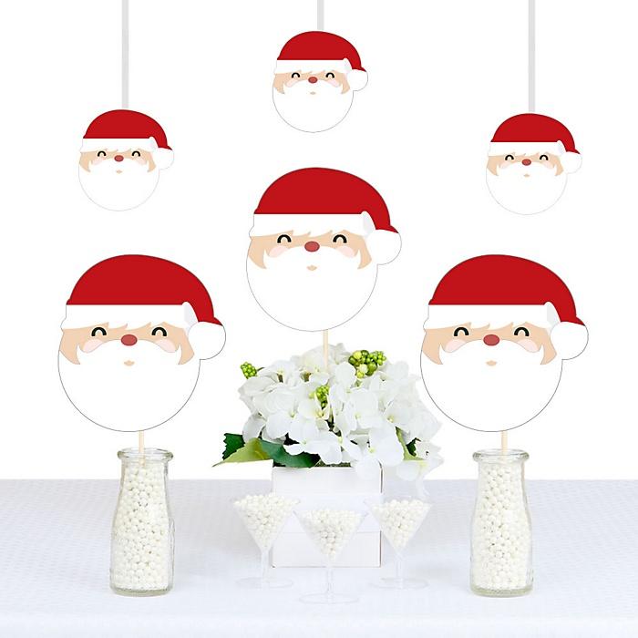 Jolly Santa Claus - Christmas Decorations DIY Party Essentials - Set of 20