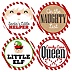 Jolly Santa Claus - Christmas Party Funny Name Tags - Party Badges Sticker Set of 12 (Naughty & Nice)