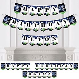 Kentucky Horse Derby - Personalized Horse Race Birthday Party Bunting Banner and Decorations