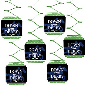 Kentucky Horse Derby - Horse Race Party Hanging Decorations - 6 ct