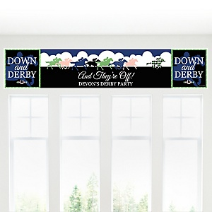 Kentucky Horse Derby - Personalized Horse Race Party Banner