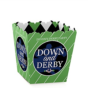Kentucky Horse Derby - Party Mini Favor Boxes - Personalized Horse Race Party Treat Candy Boxes - Set of 12