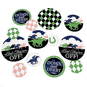 Kentucky Horse Derby - Horse Race Party Giant Circle Confetti - Party Decorations - Large Confetti 27 Count
