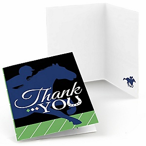 Kentucky Horse Derby - Horse Race Party Thank You Cards  - 8 ct