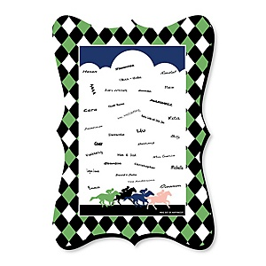 Kentucky Horse Derby - Unique Alternative Guest Book - Horse Race Party Signature Mat