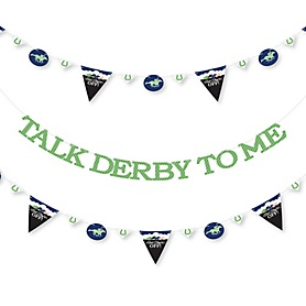 Kentucky Horse Derby - Horse Race Party Letter Banner Decoration - 36 Banner Cutouts and Talk Derby To Me Banner Letters