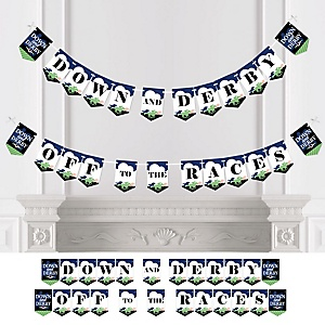 Kentucky Horse Derby - Horse Race Party Bunting Banner and Decorations - Down and Derby Off to the Races