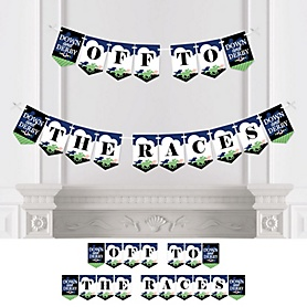 Kentucky Horse Derby - Personalized Horse Race Party Bunting Banner and Decorations