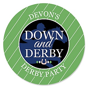 Kentucky Horse Derby - Personalized Horse Race Party Sticker Labels - 24 ct