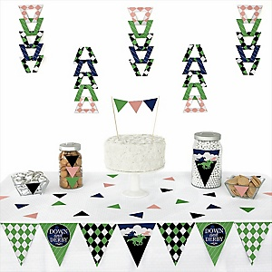 Kentucky Horse Derby - Triangle Horse Race Party Decoration Kit - 72 Piece