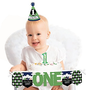 Kentucky Horse Derby 1st Birthday - First Birthday Boy Smash Cake Decorating Kit - High Chair Decorations