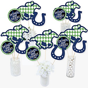 Kentucky Horse Derby - Horse Race Party Centerpiece Sticks - Table Toppers - Set of 15