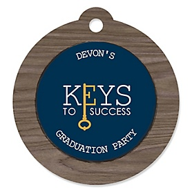 Grad Keys to Success - Personalized Graduation Party Die-Cut Tags - 20 ct