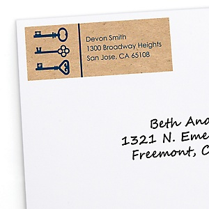 Grad Keys to Success - Personalized Graduation Return Address Labels - 30 ct