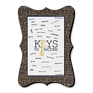 Grad Keys to Success - Unique Alternative Guest Book - Graduation Party Signature Mat