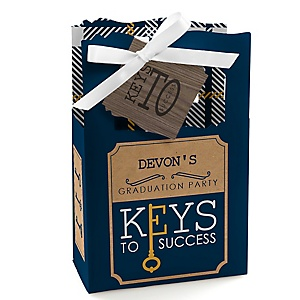 Grad Keys to Success - Personalized Graduation Favor Boxes - Set of 12