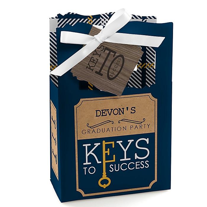 Grad Keys to Success - Personalized Graduation Favor Boxes - Set of 12