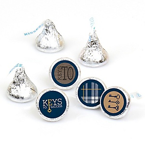 Grad Keys to Success - Round Candy Labels Graduation Party Favors - Fits Hershey's Kisses 108 ct