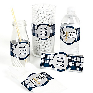 Grad Keys to Success - DIY Graduation Party Wrapper - 15 ct