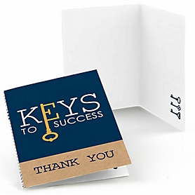 Grad Keys to Success - Graduation Party Thank You Cards - 8 ct