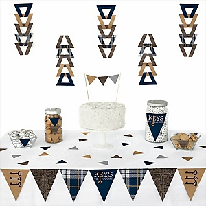 Grad Keys to Success -  Triangle Graduation Party Decoration Kit - 72 Piece