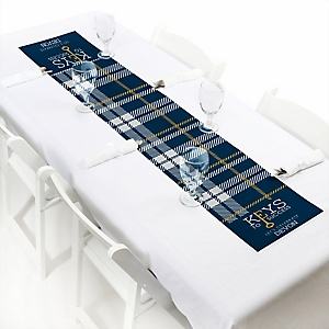 Grad Keys to Success  - Personalized Graduation Party Petite Table Runner