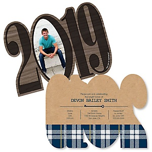 Grad Keys to Success - Personalized 2019 Photo Graduation Announcement - Set of 12