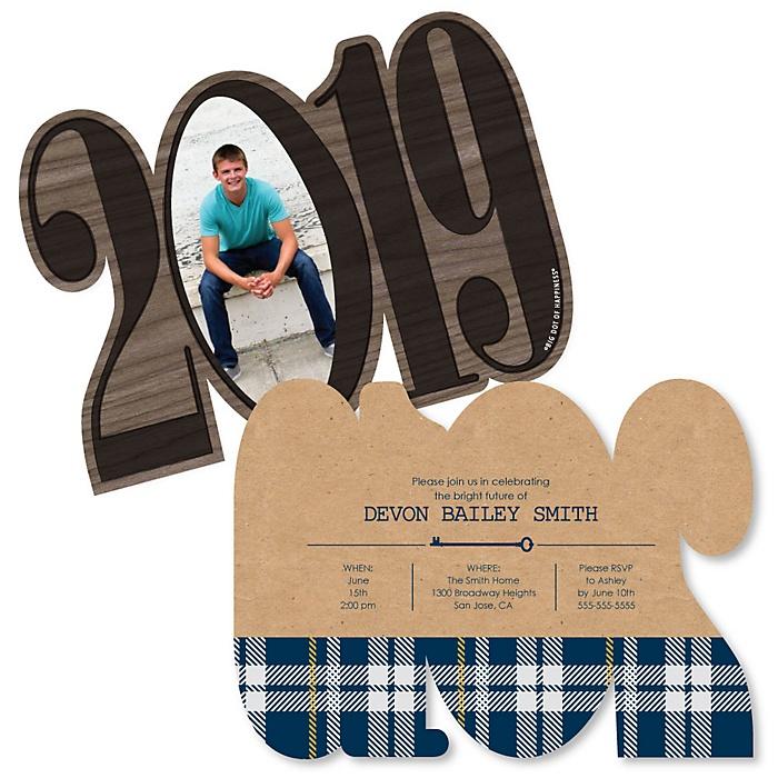 Grad Keys to Success - Personalized 2019 Photo Graduation Announcement - Set of 12