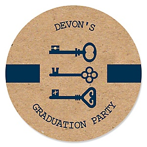 Grad Keys to Success - Personalized Graduation Sticker Labels - 24 ct
