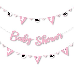 Purr-fect Kitty Cat - Kitten Meow Baby Shower Letter Banner Decoration - 36 Banner Cutouts and Baby Shower Banner Letters