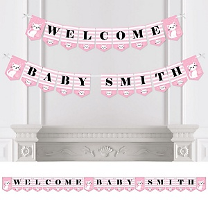 Purr-fect Kitty Cat - Personalized Kitten Meow Baby Shower Bunting Banner and Decorations