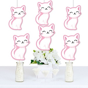 Purr-fect Kitty Cat - Decorations DIY Kitten Meow Baby Shower or Birthday Party Essentials - Set of 20