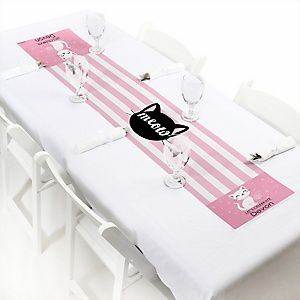 Purr-fect Kitty Cat - Personalized Kitten Meow Party Petite Table Runner