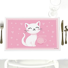 Purr-fect Kitty Cat - Kitten Meow - Party Table Decorations - Party Placemats - Set of 12