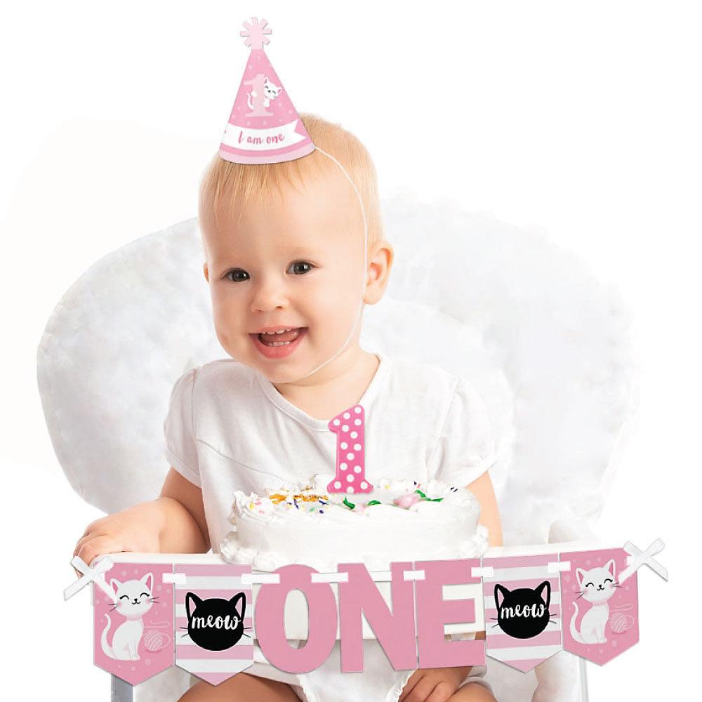 Purr Fect Kitty Cat 1st Birthday First Birthday Boy Smash Cake