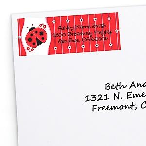 Modern Ladybug - Personalized Baby Shower Return Address Labels - 30 ct