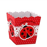 Modern Ladybug - Personalized Baby Shower Candy Boxes