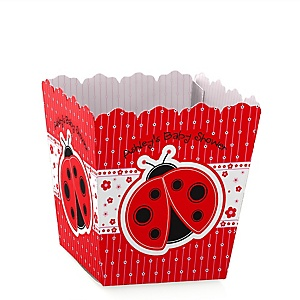 Modern Ladybug - Party Mini Favor Boxes - Personalized Baby Shower Treat Candy Boxes - Set of 12