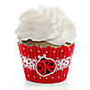 Modern Ladybug - Baby Shower Cupcake Wrappers & Decorations