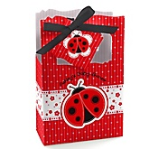 Modern Ladybug - Personalized Baby Shower Favor Boxes