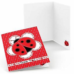 Modern Ladybug - Baby Shower Thank You Cards - 8 ct