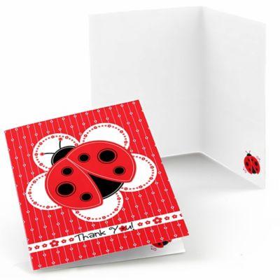 Modern Ladybug   Baby Shower Thank You Cards   8 Ct