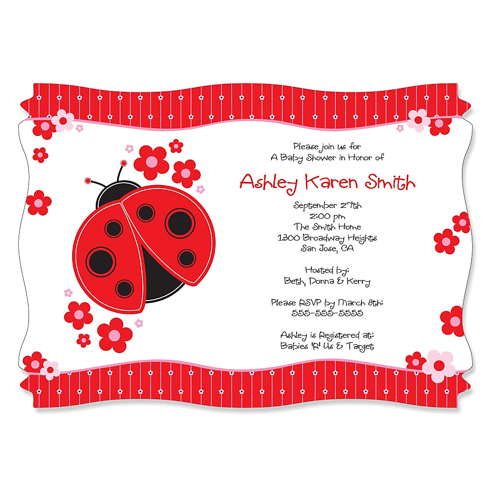 Modern Ladybug - Personalized Baby Shower Invitations ...