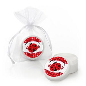 Modern Ladybug - Personalized Baby Shower Lip Balm Favors