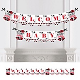 Modern Ladybug  - Personalized Baby Shower Bunting Banner