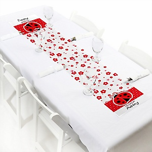 Modern Ladybug - Personalized Party Petite Table Runner