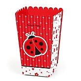 Modern Ladybug - Personalized Party Popcorn Favor Treat Boxes