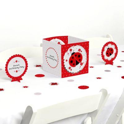 Modern Ladybug Birthday Party Table Decorating Kit