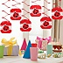 Modern Ladybug - Baby Shower Hanging Decorations - 6 ct